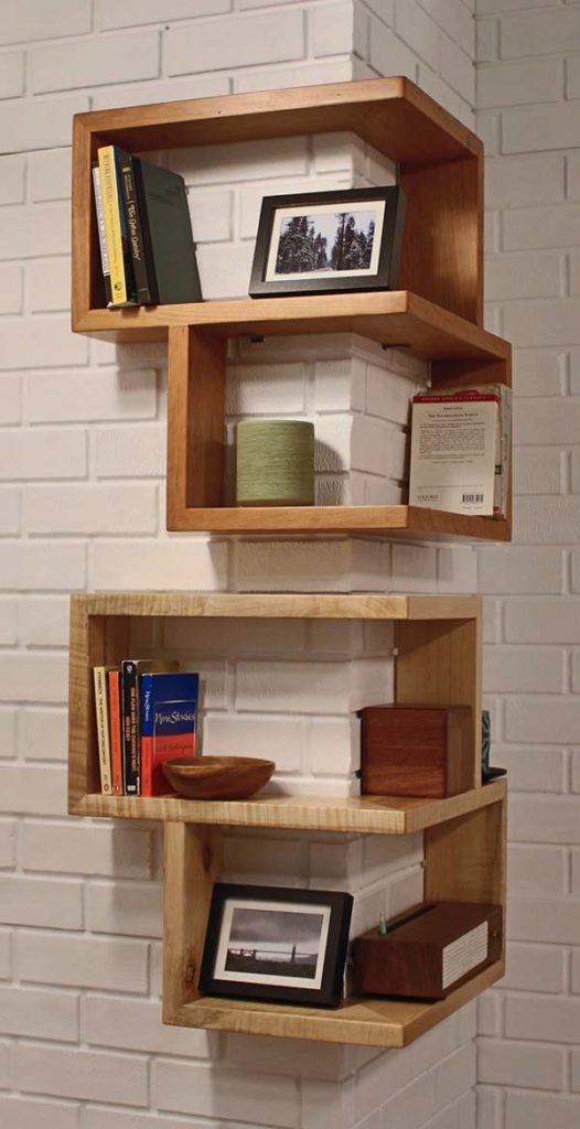 Original Solution for the Convex Angle on the Wall in the Room #corner wall shelves #bedroom #homedecorimage