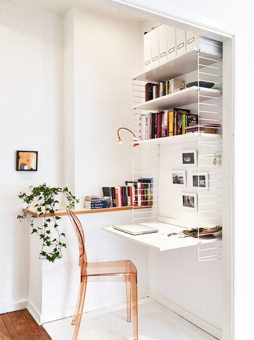 Shelves in White #corner wall shelves #bedroom #homedecorimage