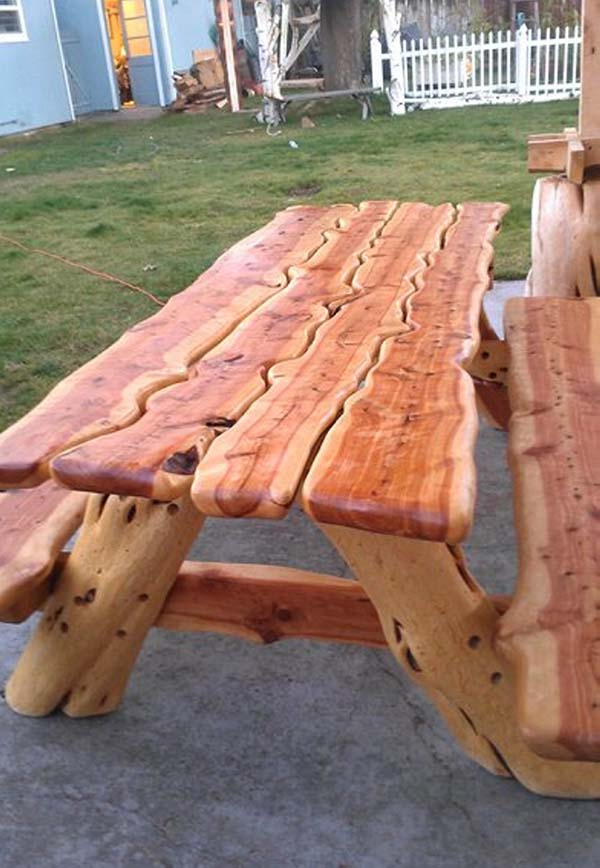 Wood Carved Patio Table
