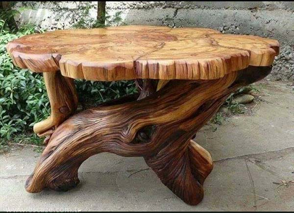 Artistic Wooden Table Design