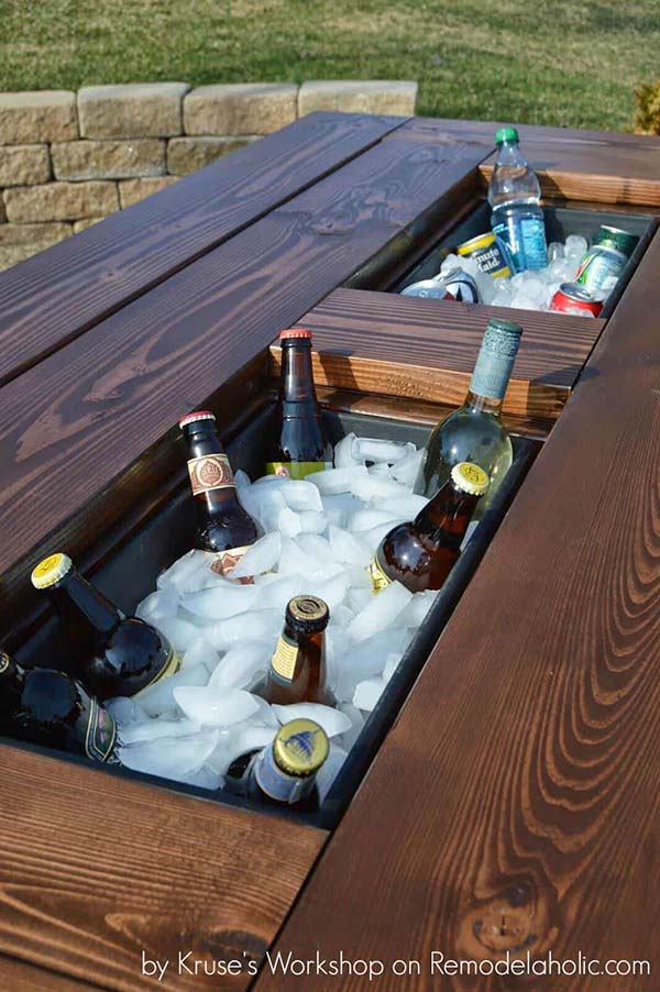 diy wooden icebox table