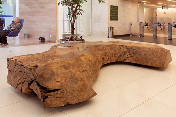 mind blowing natural wooden table