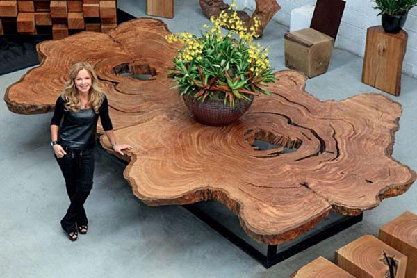 Unique and Artistic Wooden Table