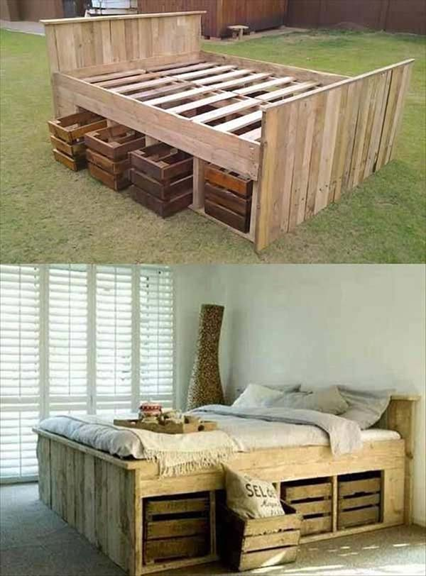a crate bed