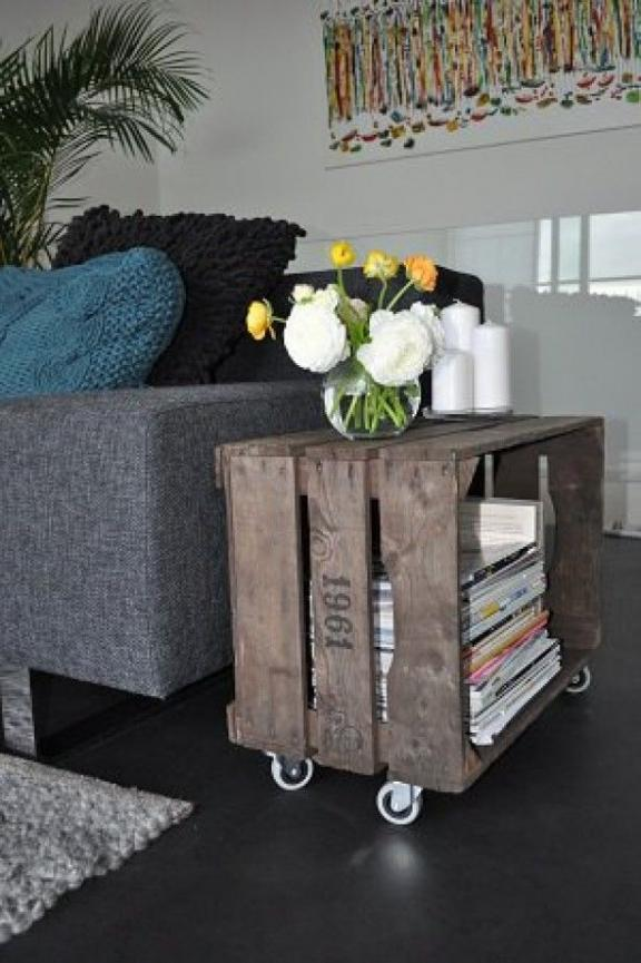 a side table on wheels