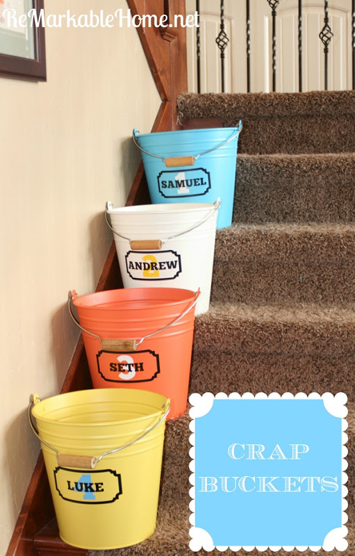 crap buckets for your kids