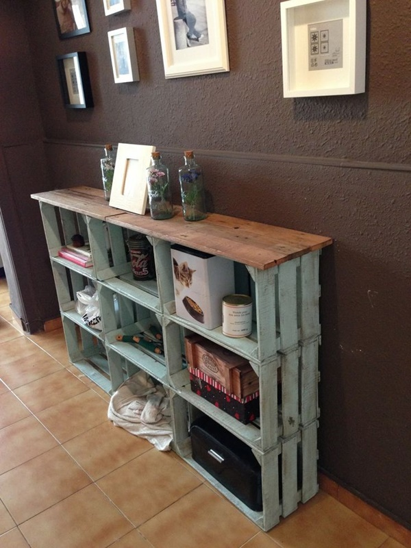diy crate shelves with a rustic feel
