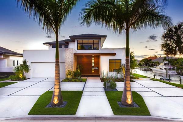 exotic and modern yard