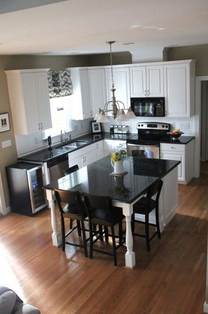 kitchen and dining room in one