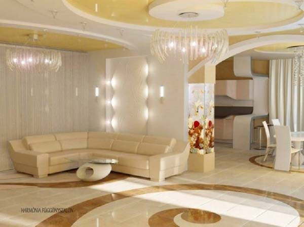 living room fantasy in white and cream