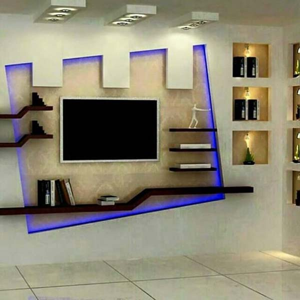 wall ceiling for tv