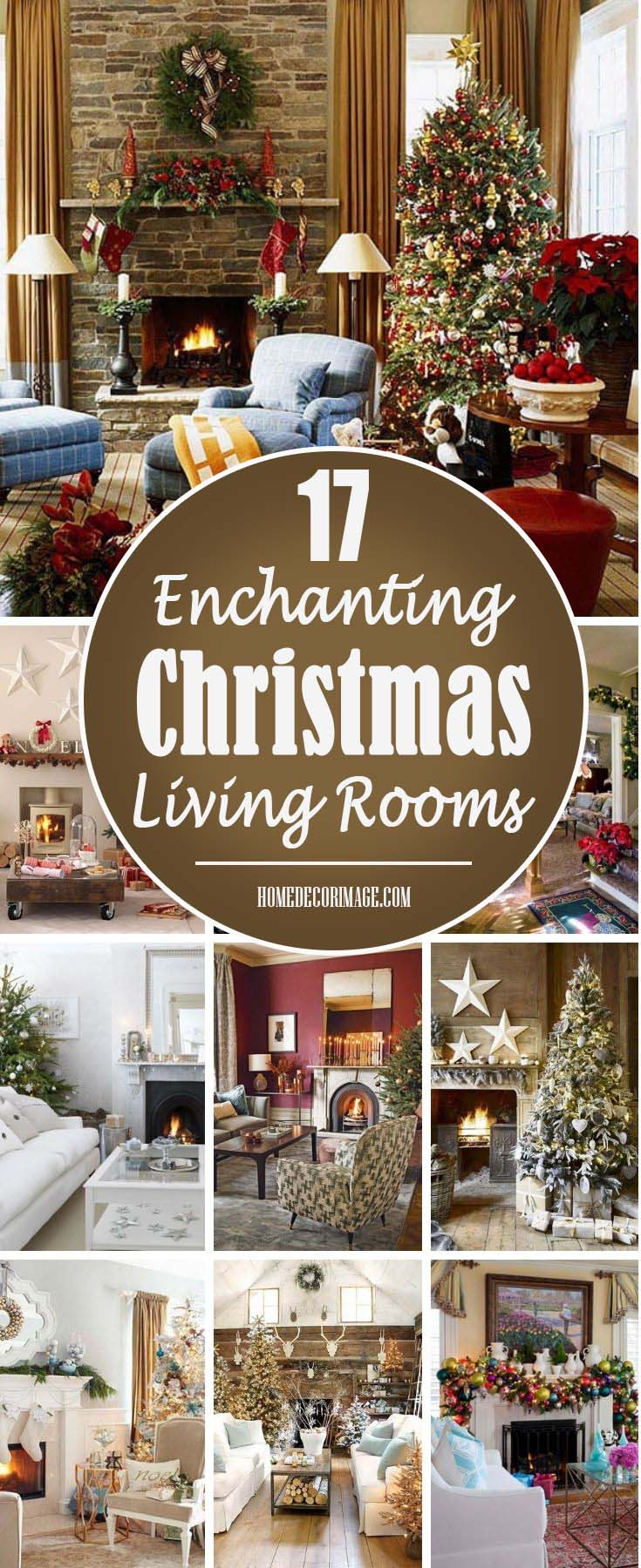 17 Enchanting Christmas Living Rooms to Leave You Fascinated