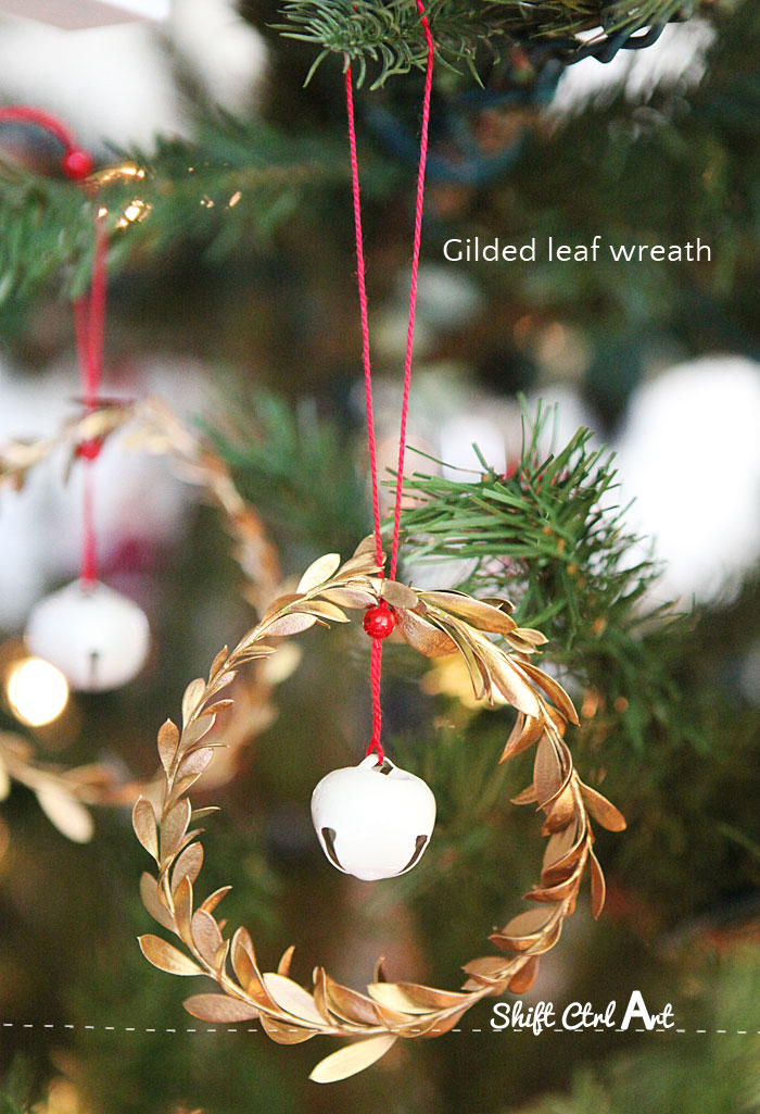 Leaf and Jingle Bell Ornaments #Christmas #DIY #decor #homedecorimage