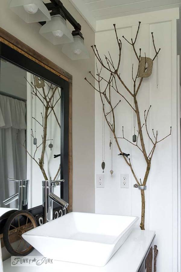 Bathroom Beautiful Ways To Decorate With Branches #decor #home #branches #homedecorimage