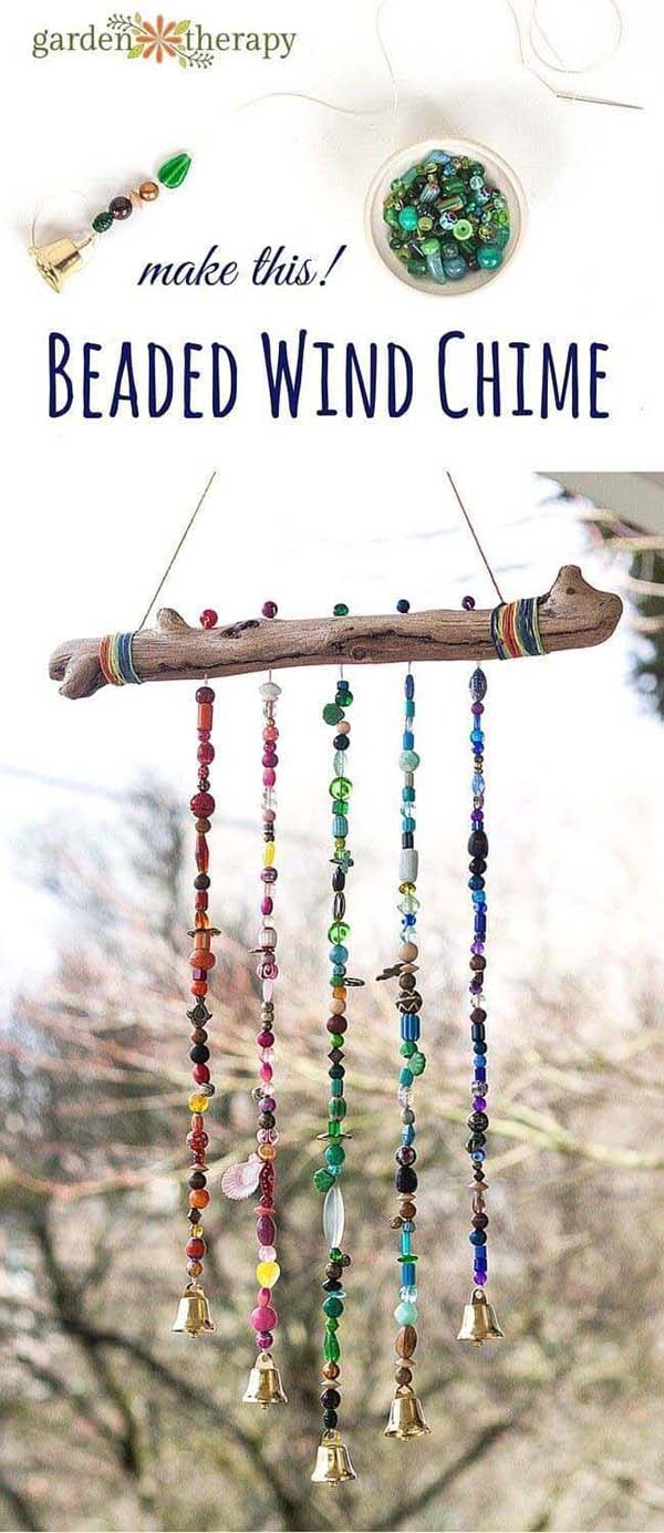Beaded Bough Wind Chime #decor #home #branches #homedecorimage