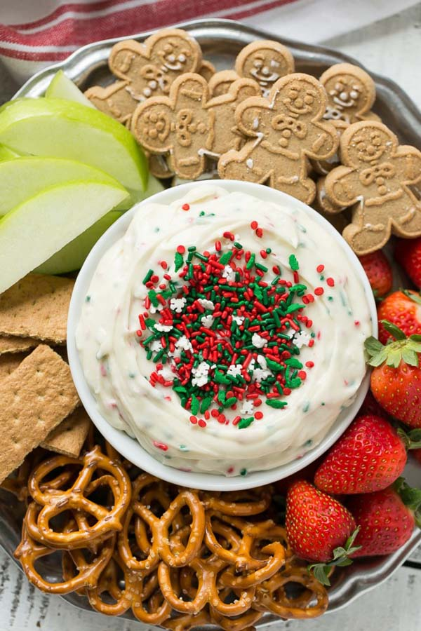 Christmas Cookie Dough Dip #Christmas #dips #homedecorimage