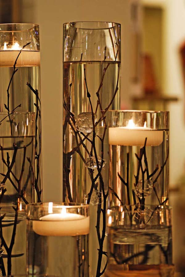 Floating By Candlelight Table Display #decor #home #branches #homedecorimage