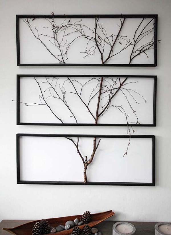 Gallerists Walk Sectioned Wall Mount #decor #home #branches #homedecorimage