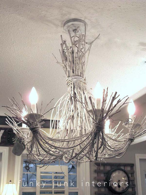 Winter Palace Sculpted Twig Chandelier #decor #home #branches #homedecorimage