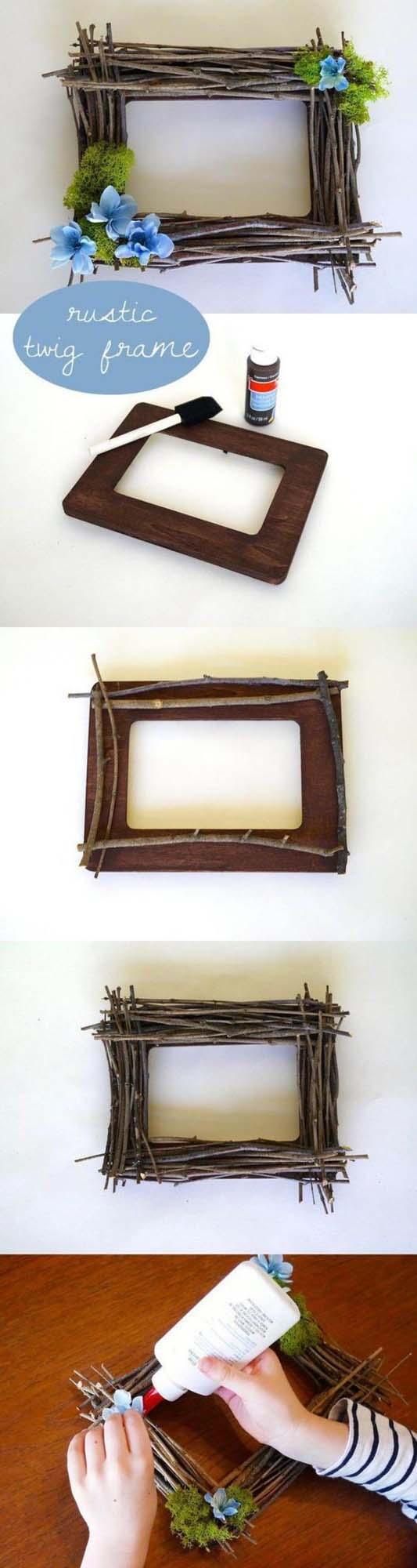 DIY Rustic Twig Frame #decor #home #branches #homedecorimage