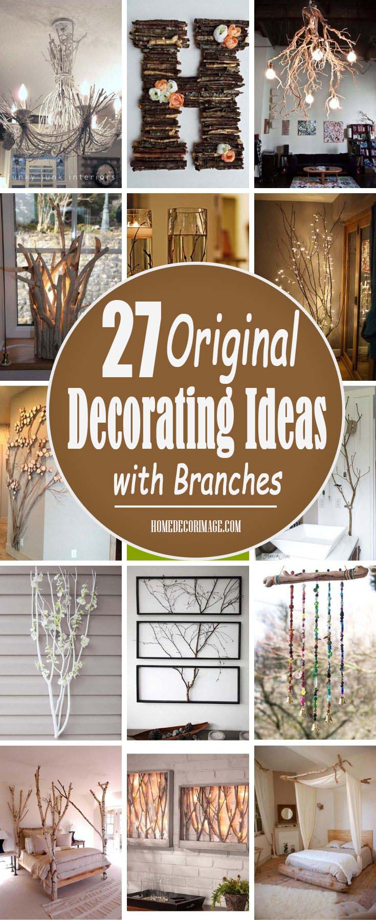 27 Original Decorating Ideas with Branches to Bring Nature in Your Home #decor #home #branches #homedecorimage