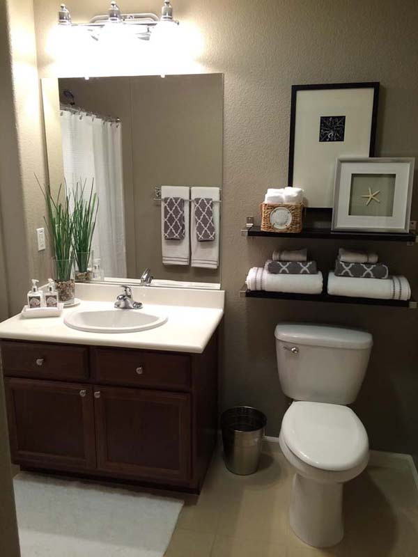 Chic Over The Toilet Shelves #storage #toilet #bathroom #homedecorimage