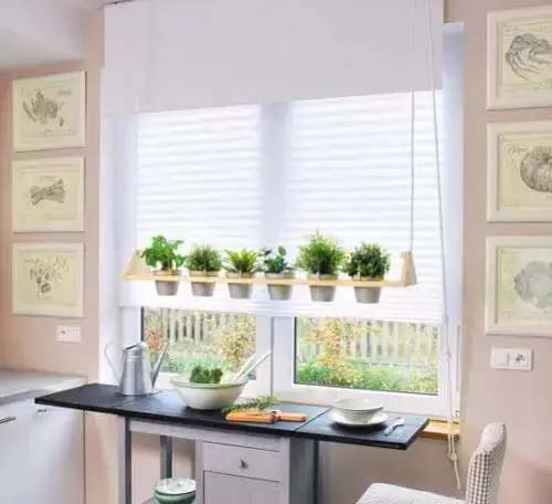 Hanging Herb Garden #window shelf #plants #homedecorimage