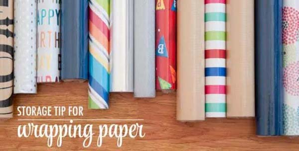 Store the Wrapping Paper #Christmas #Christmas decoration #storage #homedecorimage