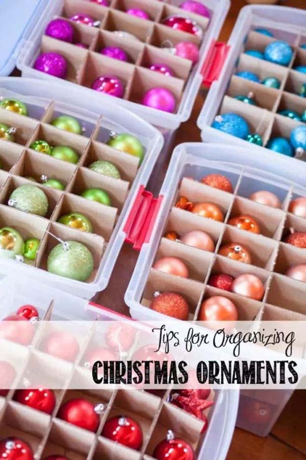Tips on How to Organize Your Christmas Ornaments #Christmas #Christmas decoration #storage #homedecorimage