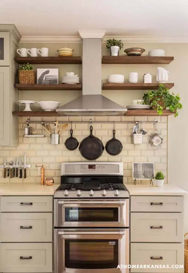 The Charm is in the Symmetry in this Cottage Kitchen #cottage #kitchen #homedecorimage