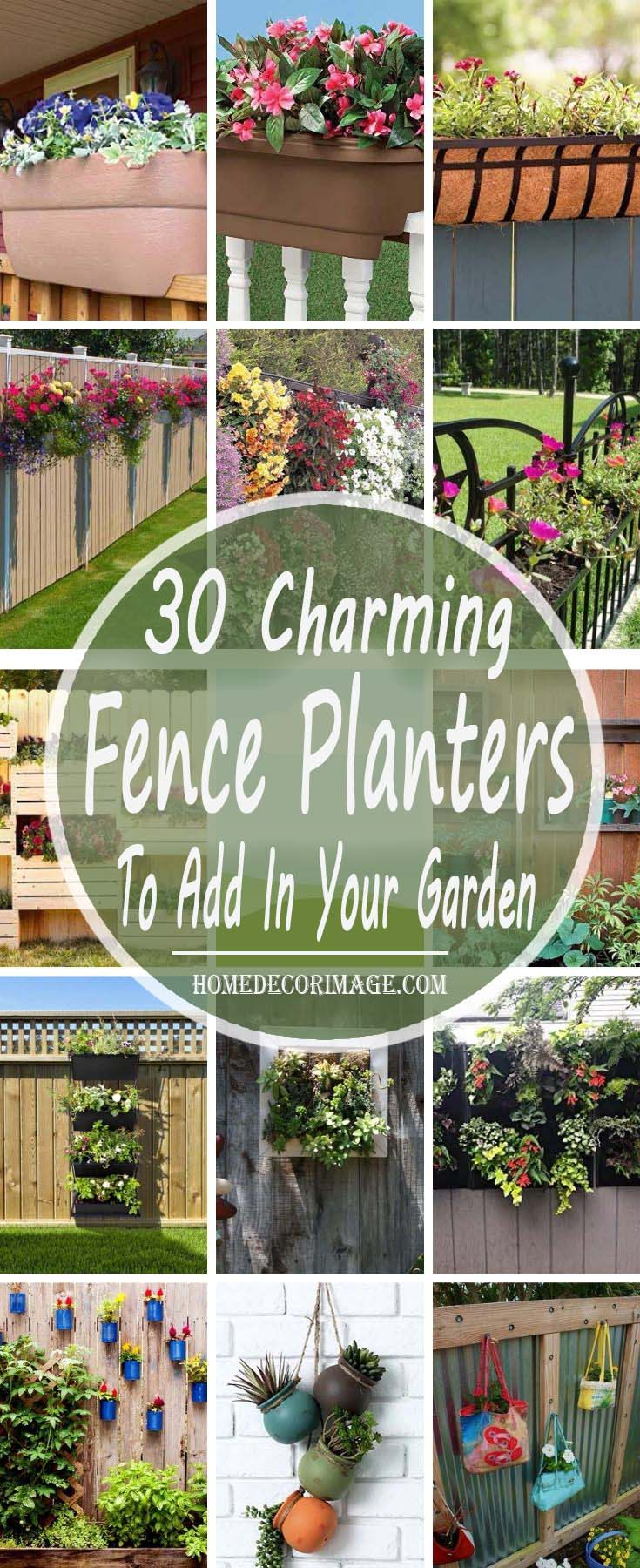 30 Charming Fence Planters To Add More Natural Beauty To Your Garden #fenceplanters #homedecorimage