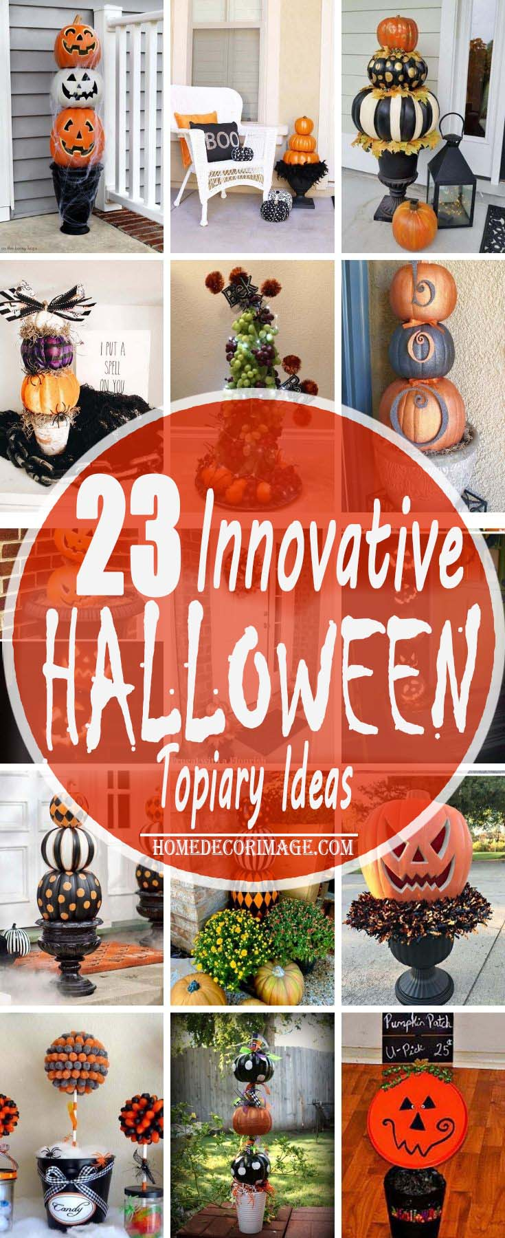 23 Innovative Halloween Topiary Ideas to Get Into the Spooky Mood #topiary #halloween #homedecorimage