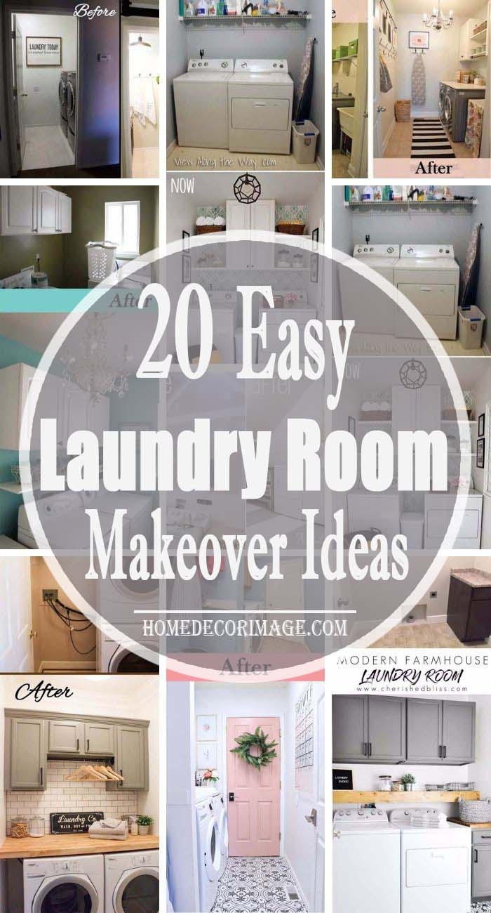 20 Before and After Laundry Room Makeover Ideas #laundryroom #makeover #homedecorimage